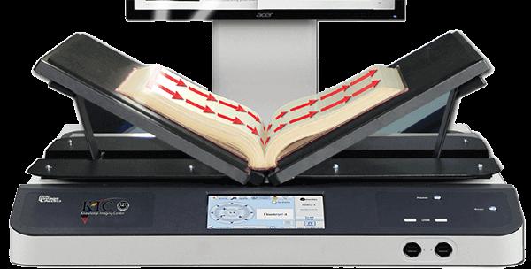 KIC Scanner scanning book