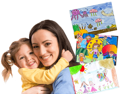 Create a Book of Your Childrens' Art & Schoolwork